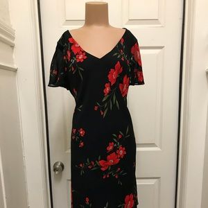 Donna Rico black and red floral dress